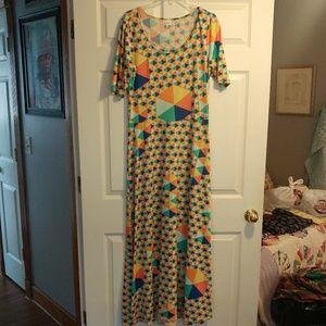 Rainbow Colorwheel Lularoe Ana Dress